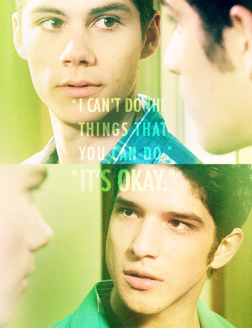 attractedtosin:  teen wolf meme » four colours - green (2/4) (x)