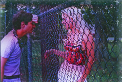 racingames:   Harmony Korine and Chloe Sevigny on the set of Gummo (1997).  another