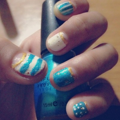 Nag nail art2 ko again. So epic fail! Haha
