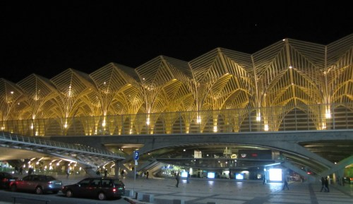 the very cool Oriente Station in Lisbon, by the architect Santiago Calatrava