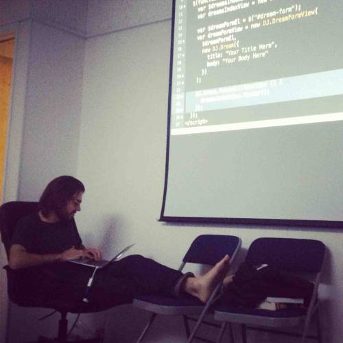 dylnclrk-learns-rails:  Friday night at AppAcademy!