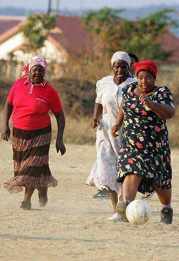 amcoolel:  Football grannies. Limpopo, South Africa.