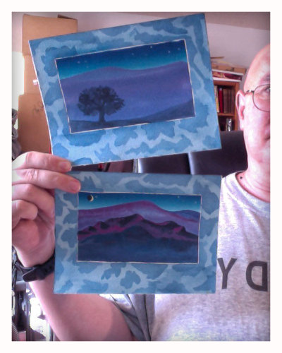 Two small landscapes, recently finished - available for sale, $75 each, or $125 for the pair.  Message me if interested!