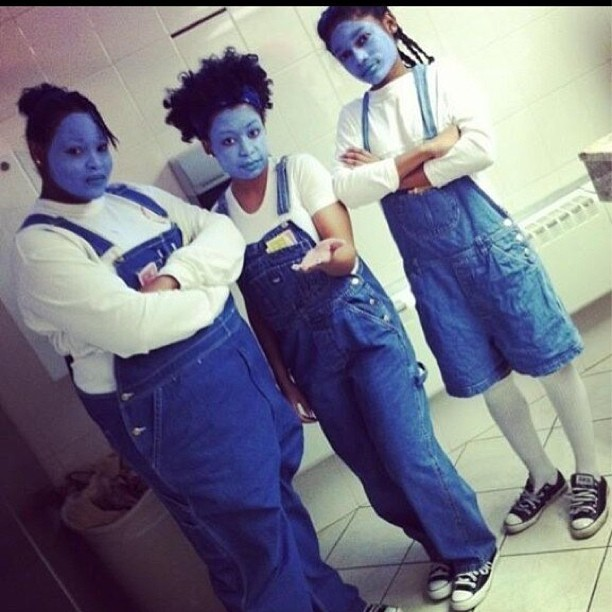 The blue sisters from Proud Family are real guys 😂