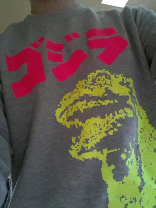 Im wearing my new Godzilla (MaxCapacity) shirt today, I might be feeling unstoppable.