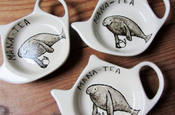 A herd of Mana-teas, also known as 'Tea-cows' https://www.etsy.com/uk/listing/125084246/mana-tea-manatee-tea-bag-tidy