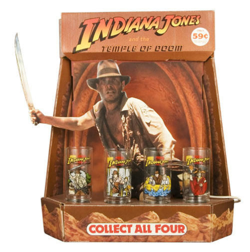 Collectable Indiana Jones and the Temple of Doom tumblers.  Source: Topless Robot