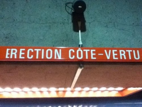 Erection Cote Vertu  (Station de métro Longueuil)