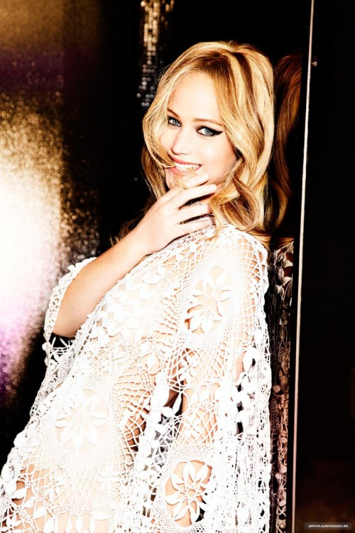 gasstation:  Jennifer Lawrence photographed by Ellen von Unwerth, 2013