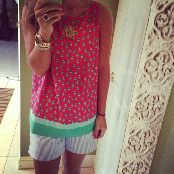 holyprepster:  {Birdies and seersucker} #ootd #loft #vineyardvines