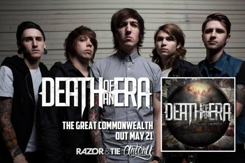"@DeathOfAnEra's new album ""The Great Commonwealth"" comes out tomorrow!!  Get your pre-order bundles here: http://merchnow.com/search/?q=death+of+an+era   Who's picking up a copy?"