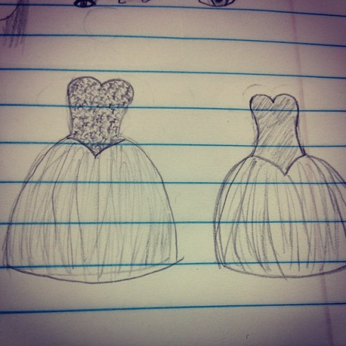 Too exited for grad already im drawing my dress