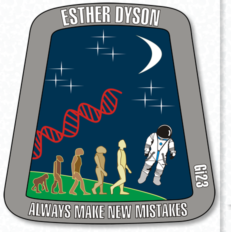 — Esther Dyson's Astronaut Patch Design Image & Download - Emblem Meaning & Symbolism. Space Travel - Cosmonaut - Designed by Gi23, Gisela Giardino