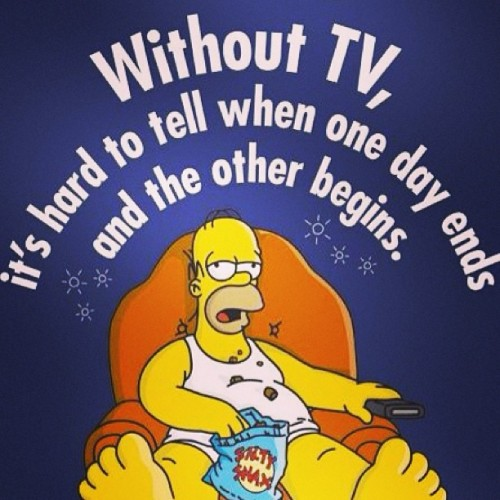 Sometimes #tv is all you #need! Hehe!