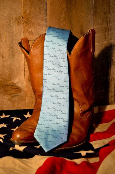 "Buffalo Jackson ""Ronald Reagan"" signature necktie — I can't decide if I like this or not. Don't worry, there are other presidents, too."