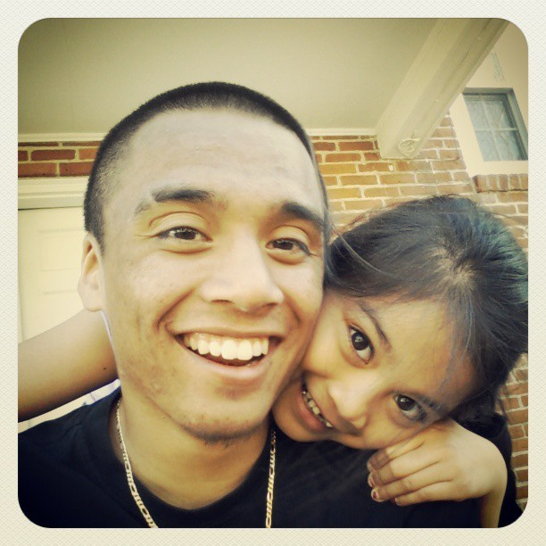 Chillin outside with my lil sister :)