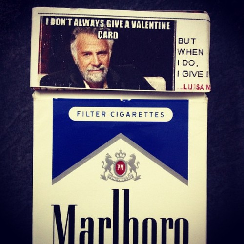 Perfect Valentine's label match #Marlboro