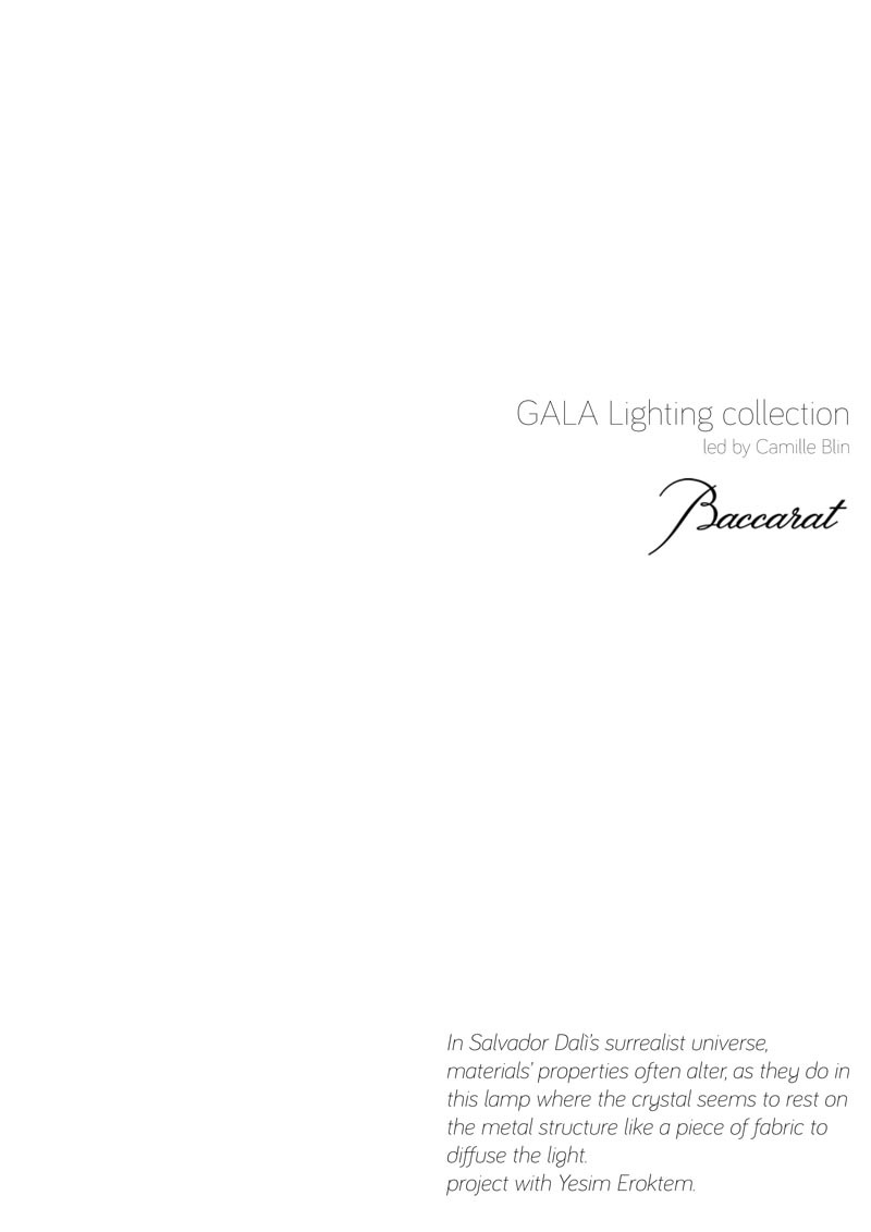 GALA Light collection for BACCARAT, 2013, ECAL in collaboration with ECAL/ Yesim Eroktem scene photo copyright: ECAL/ Milo Kellerother photo copyright: ECAL/ Nicolas Genta