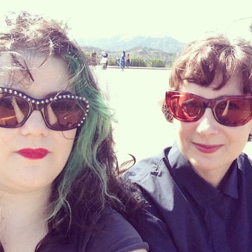Bad hair for me with Wendy at the Griffith Observatory http://bit.ly/188LoS5