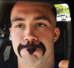theclearlydope:  The mustache that this city needs.