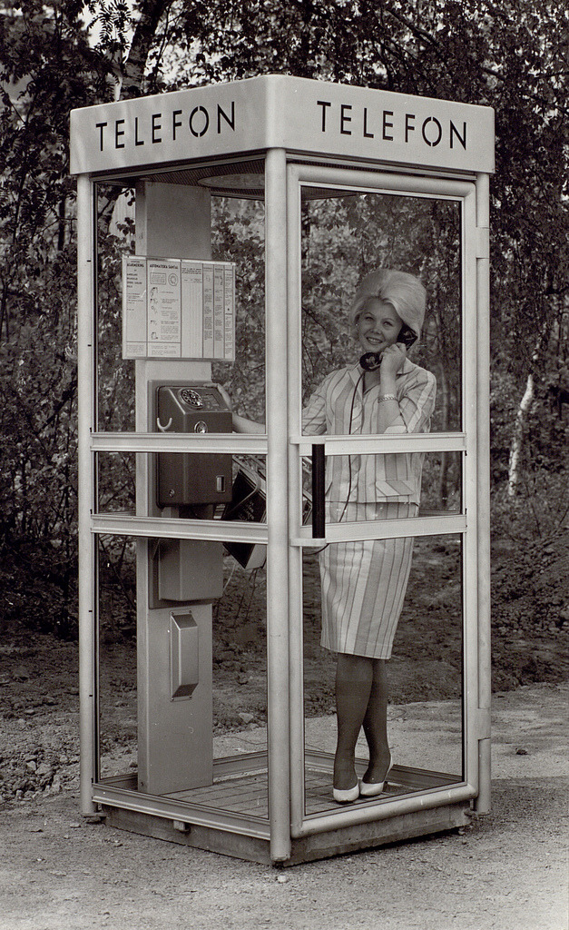 1960´s Phone Booth Sweden Photo: Telehistoriska