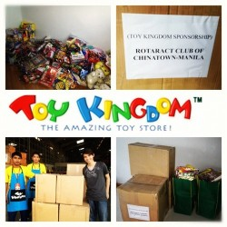 Thank you Toy Kingdom Philippines for supporting 12 Days of Christmas Project of Rotaract Chinatown! #12daysofchristmas #12daysofcelebrations #12daysofhappiness #12daysofgiftgiving #12beneficiaries #900kids #900hopes #toykingdom #toys #8boxes #donation