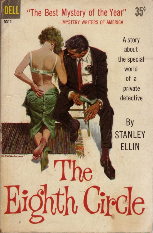 seattlemystery:  Sept 1959 Dell reissue, first printing, from the 1958 Random House hardcover winner of the 1959 Best Novel Edgar Award from the Mystery Writers of America cover painting by Robert McGinnis  - Seattle Mystery Bookshop