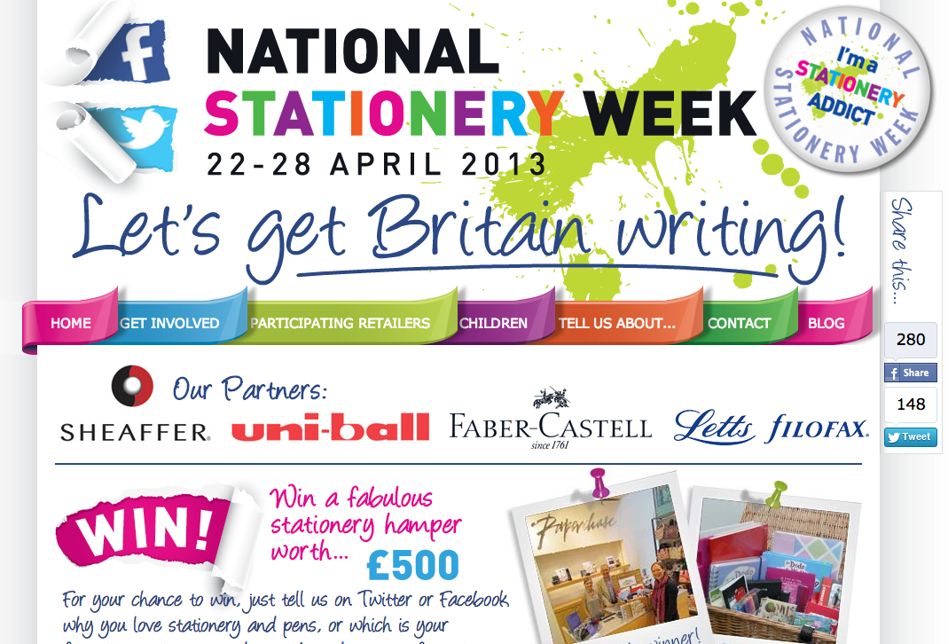 It's the last day of britain's national stationery week…Hurrah for all things stationery!