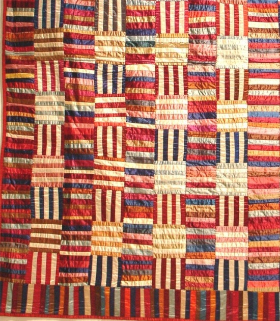 apotospitimou:  (via Antique Quilts / The Darien (Connecticut) Historical Society's 1860 Norwalk Hat Factory quilt is …)