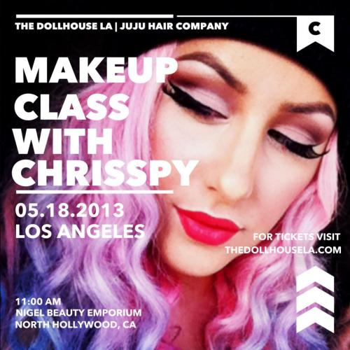 Less than 2 weeks until my first makeup class!!! Do you have your tickets yet?