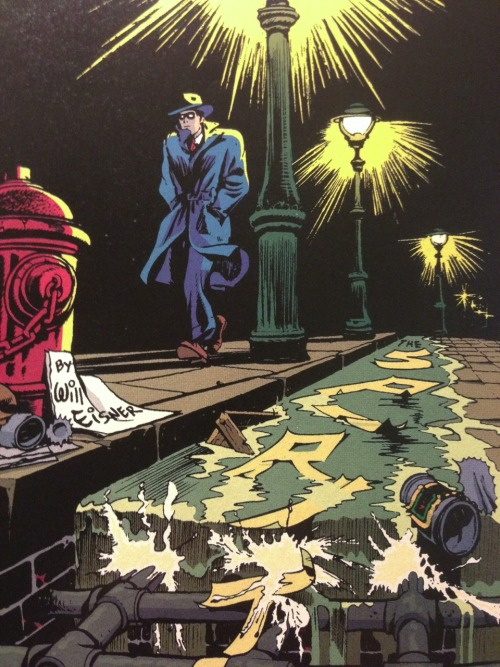 jpjones1970:  The Spirit by Will Eisner 1947  Love the extreme perspective on this. That gutter grate looks like scaffolding!