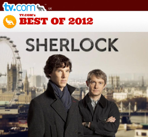 If you haven't already be sure to vote for Sherlock and Benedict Cumberbatch TV.com's best of 2012. Vote for Sherlock for Best Drama Series here. Vote for Benedict Cumberbatch for Best Dramatic Actor here.