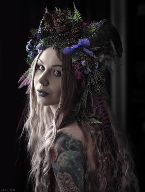 "shadecraft-blog:"" The Forest Fawn Horned Headdress Model - mehttps://www.instagram.com/aderhine© Aderhine photography"""