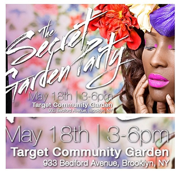 You're invited!! Go Green with us this Saturday at the @nyrp Target Garden for refreshments, gardening giveaways and of course our #secretgarden collection. See you there!