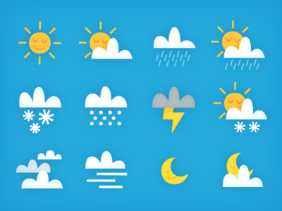 made a fun set of weather icons this week!