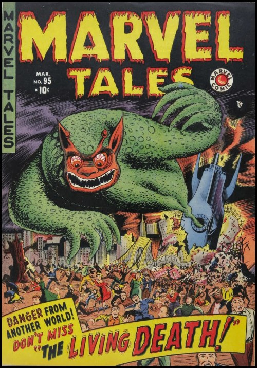 mudwerks:  (via Fantasy Ink: Greatest Comic Book Cover Ever) Marvel Tales #95, March 1950.