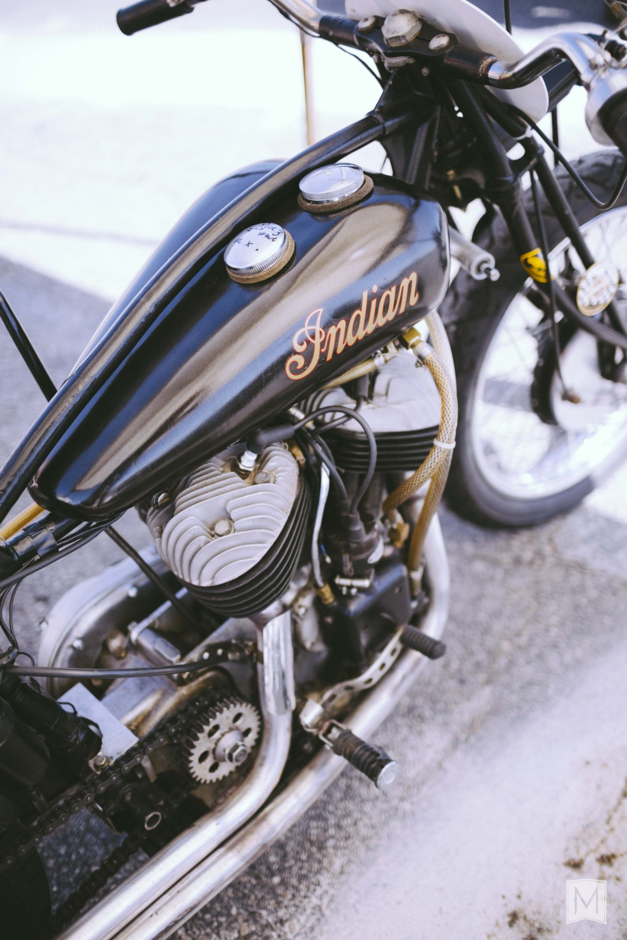 themightymotor:  Indian. Seen at Corsa Motoclassica. Willow Springs, CA.