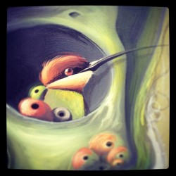 Detail from a new painting #amatic #philipbosmans #art #bird #organic #acrylic #canvas #skull#popsurrealisme #streetart #graffiti