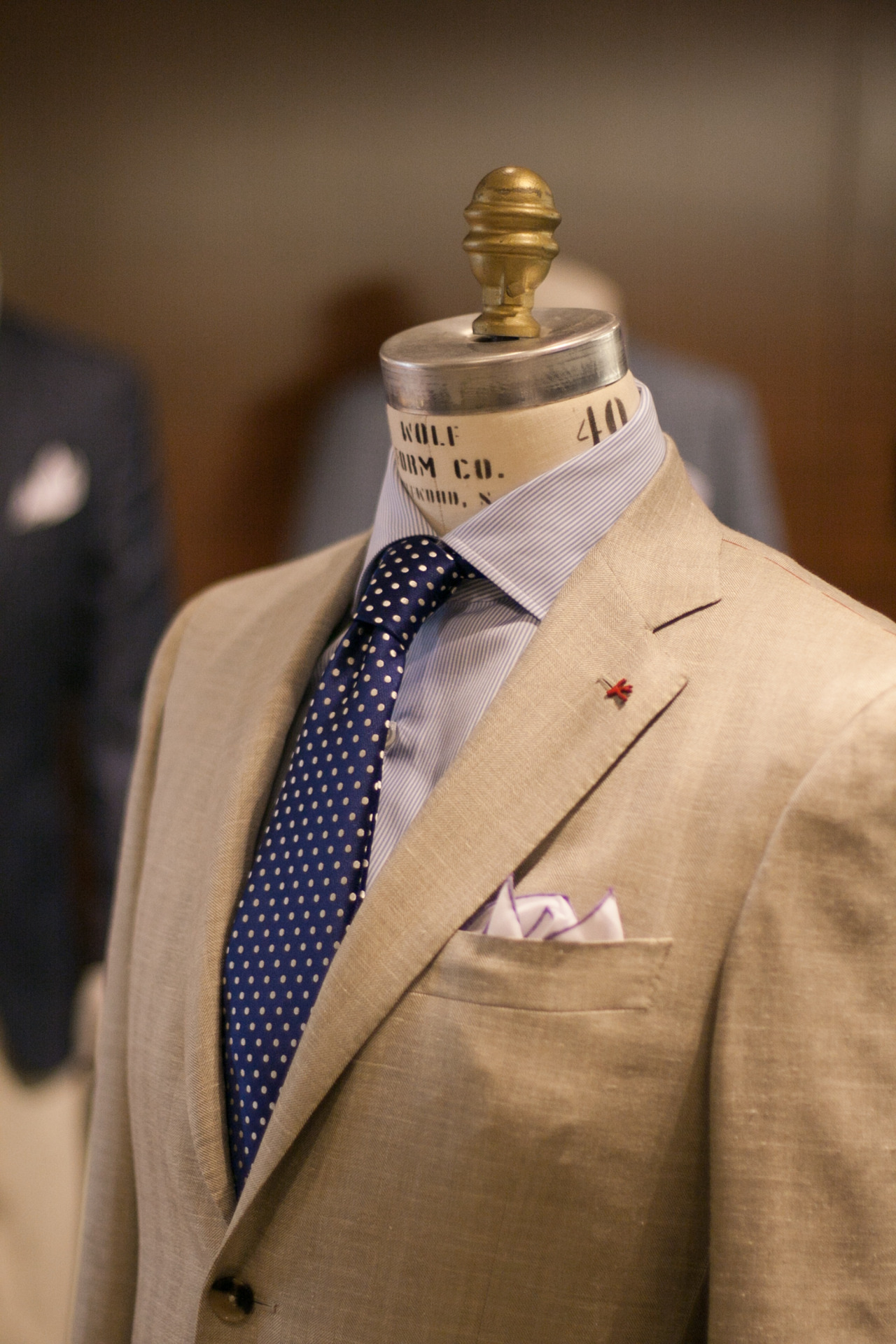 brokeandbespoke:  Isaia at Wilkes Bashford, San Francisco. Wilkes Bashford hosted an Isaia trunk show this past weekend and I had an opportunity to meet and chat briefly with the company's president, James Shay. He seemed like a nice guy who's enthusiastic about running a company that makes some of the most amazing clothing-that-I-can't-afford around.