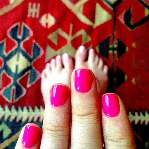 New nails make me a new woman! #hotpink #happiness  (at 16 Sword Street)