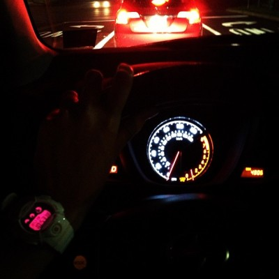 On my #way #home! #lights #road #car #scion #mybabies #toy #night #nofilter #clear #warm