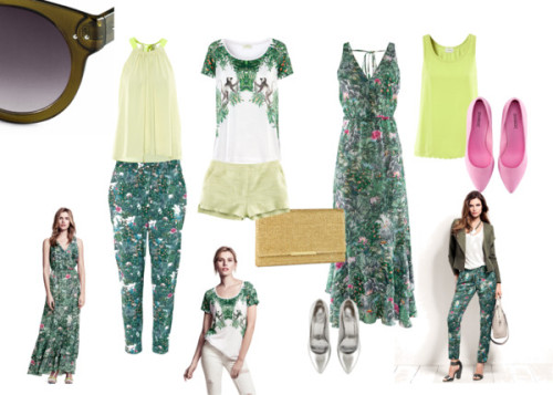 H&M Conscious Collection Florals in the Jungle by fashiontolive featuring h&m