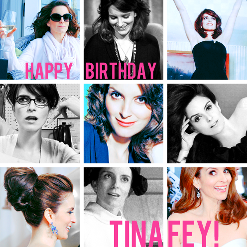 whatthe-what:  [Happy 43rd Birthday Tina Fey !]May 18th, 2013  #HappyBDayTinaFey. #HappyBDayTinaFey.