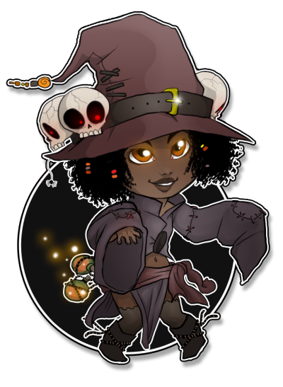 fantasyofcolor:  Chibi Witch by *Cocodoo