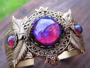 recoverylifeandcats:     Dragon's Breath is a very gorgeous type of opal made into many types of jewelry.    it looks magical…i want it.