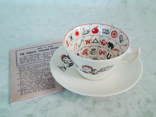 gypsy—nights:  Rare Fortune Telling Tea Cups and Saucers by SwirlingOrange11 on @weheartit.com - http://whrt.it/WjnGej