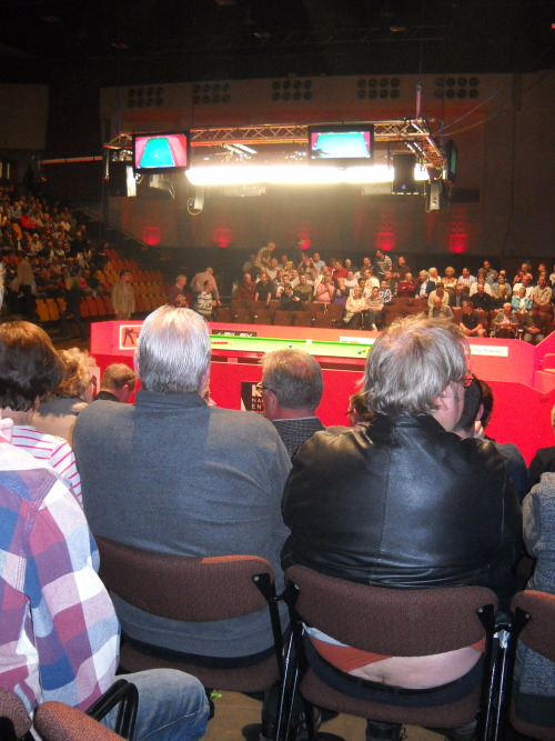I had a cracking view for the snooker….