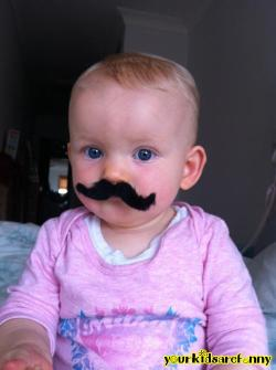 Funny Kids: Cutest Little Mustache Villian
