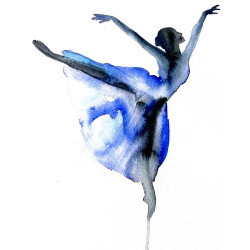 Ballet dance Ballerina ART PRINT 12X16 original watercolor painting…   ❤ liked on Polyvore