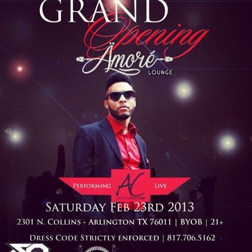 **Gig Alert** Come check me out LIVE this Saturday for the GRAND OPENING of Amoré Lounge YOU DON'T WANNA MISS IT RT/Repost